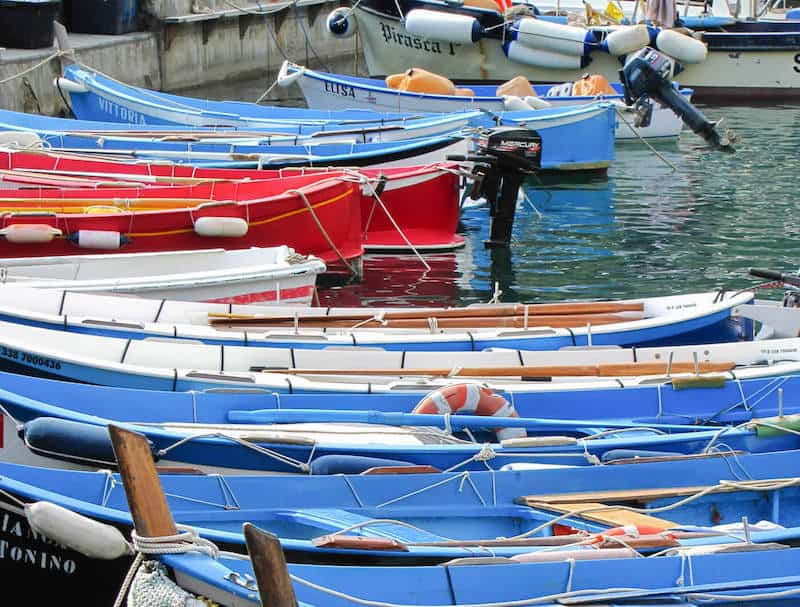 Gozzi fishing boats
