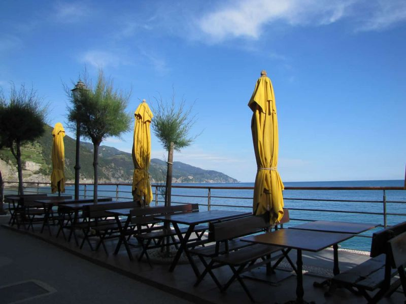 Sea views from the promenade in Monterosso