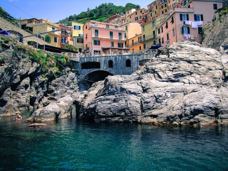 A view of Manarola from the sea