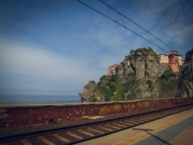Corniglia from the Cinque Terre train line.