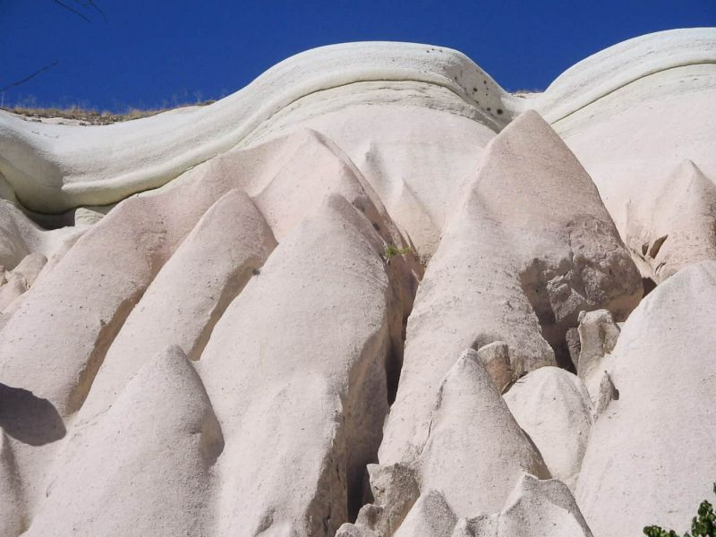 Rock shapes formed by erosion in Cappadocia