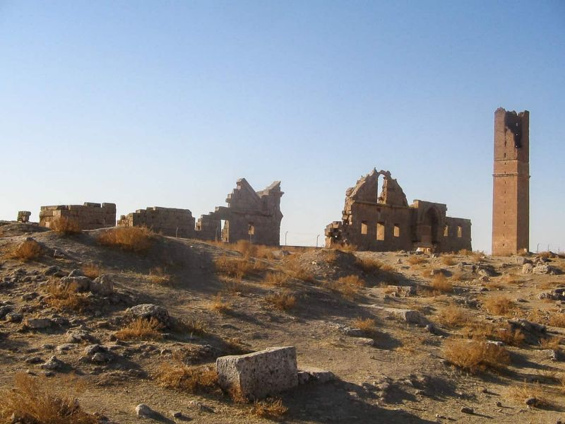 The astrological tower and university remains at Harran