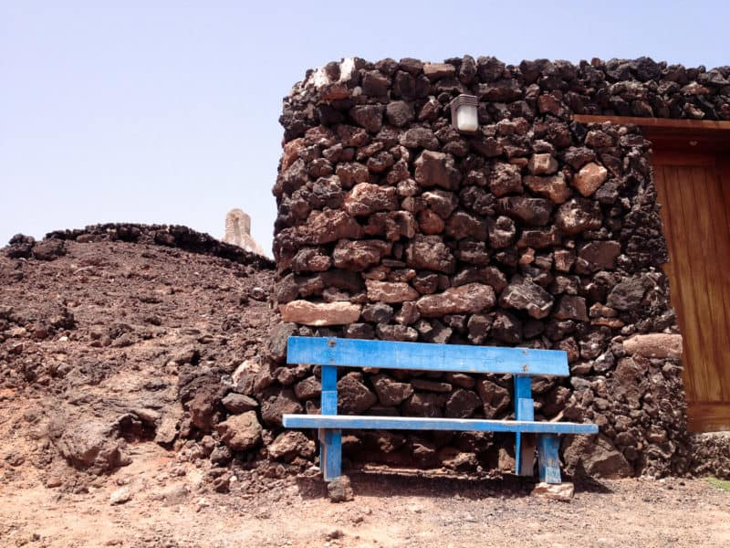 Blue bench, Isla de Lobos | An Unspoilt Guide to Fuerteventura | The Mediterranean Traveller