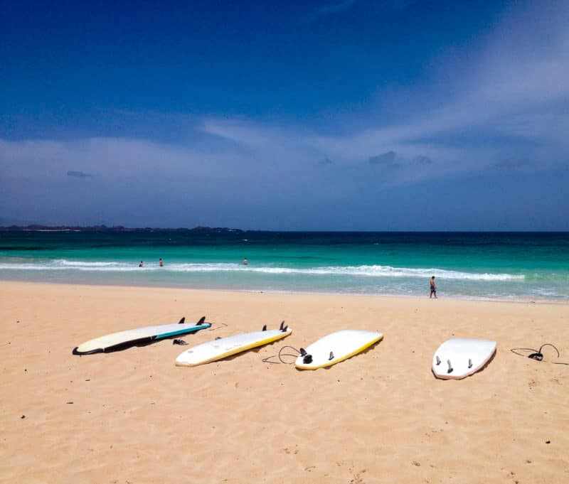 Surfboards on the beach, Fuerteventura
