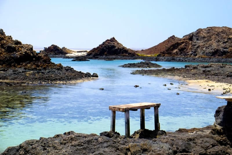 Turquoise water, Isla de Lobos | An Unspoilt Guide to Fuerteventura | The Mediterranean Traveller