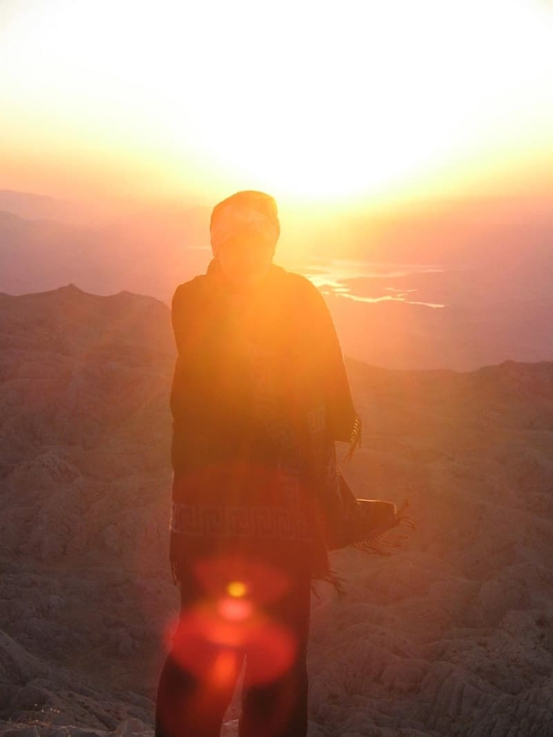 Me at the top of Mount Nemrut at sunrise