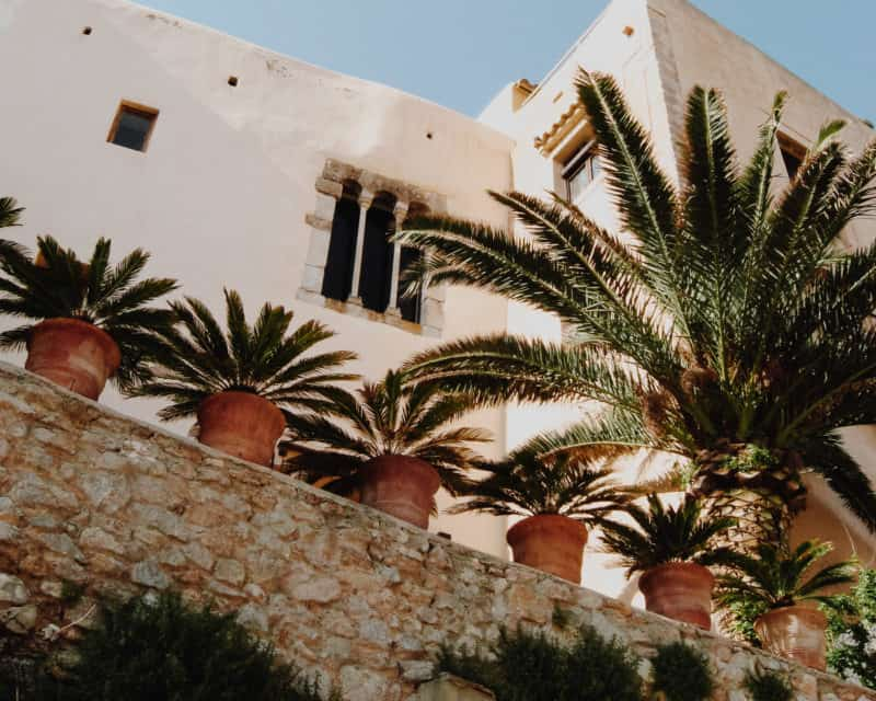 Pretty buildings in Ibiza Town
