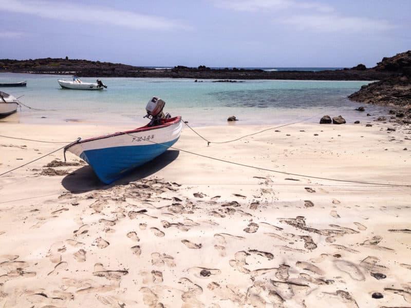 Boat on a beach, Isla des Lobos, Fuerteventura