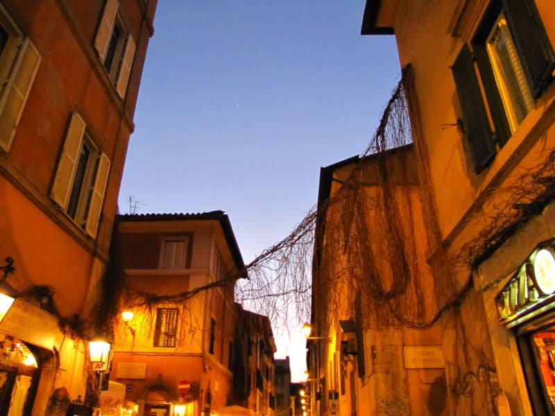 Twilight in Trastevere, Rome