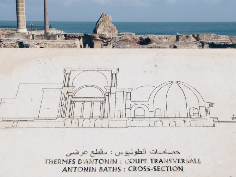 The Antonine Baths at Carthage Archaeological Site, Tunisia