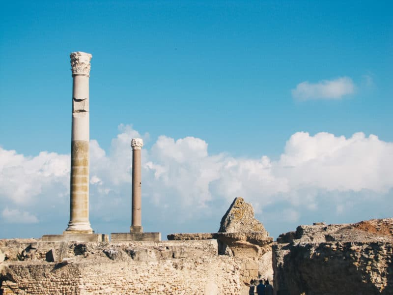 Exploring the UNESCO World Heritage site of Ancient Carthage in Tunisia.