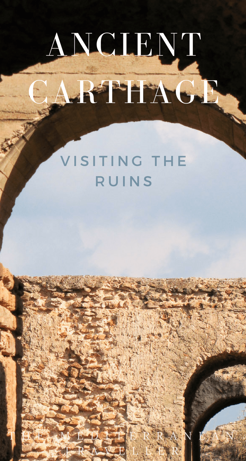 Exploring the ruins and UNESCO World Heritage site of Ancient Carthage in Tunis, Tunisia.