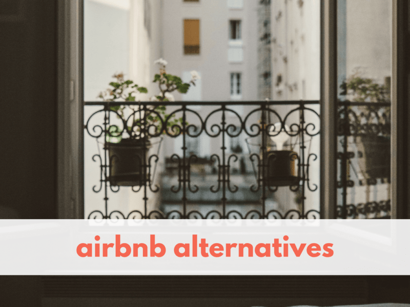 A list of alternative accommodation booking sites that aren't Airbnb