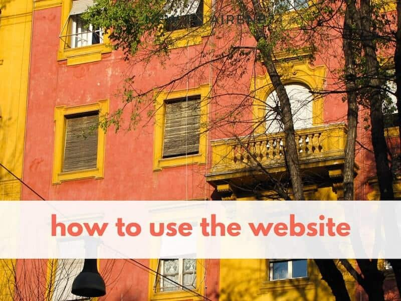 building facade with text overlay 'how to use the website'