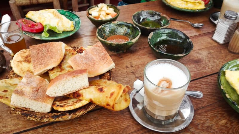 Moroccan breakfast at Cafe des Epices   Marrakech: A Foodie's Guide