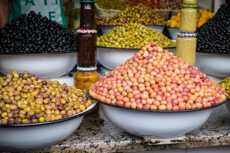 Stacks of olives | Marrakech: A Foodie's Guide