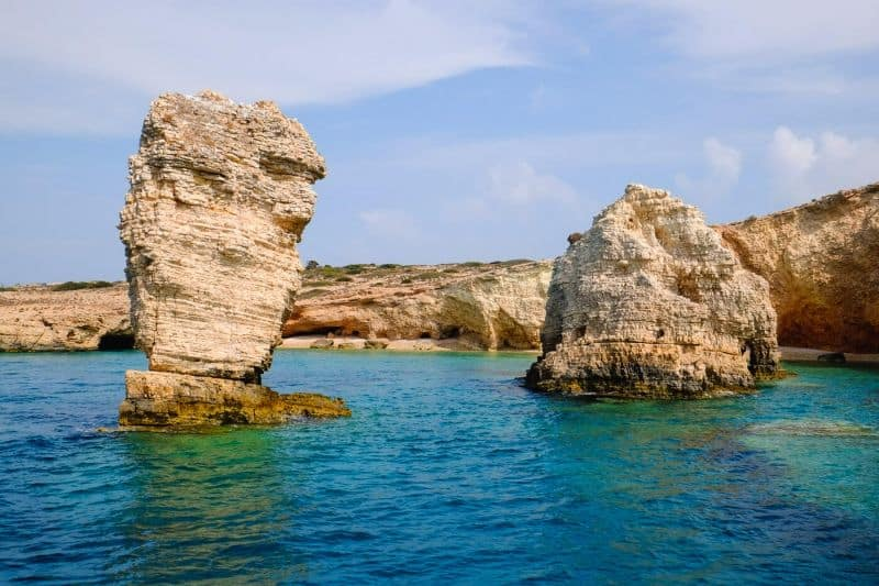 Rock formations near Koufonisia island