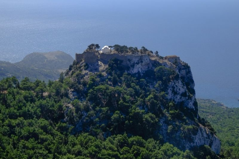 stunning view of Monolithos, Rhodes