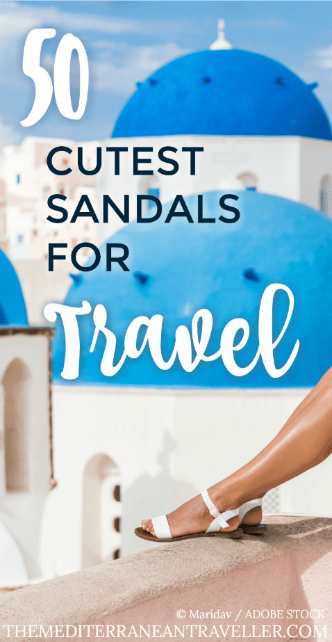 50 Cutest Sandals for Travel pin