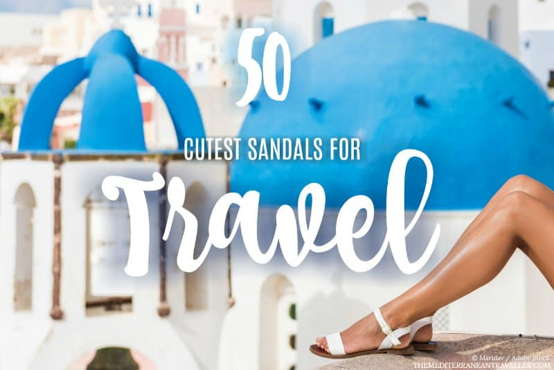 Header graphic - 50 cutest sandals for travel