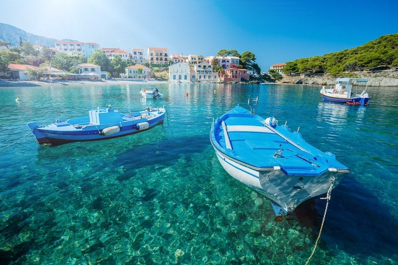 Boats in Assos harbour, Kefalonia
