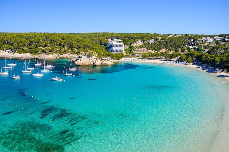 View of Cala Galdana bay, Menorca