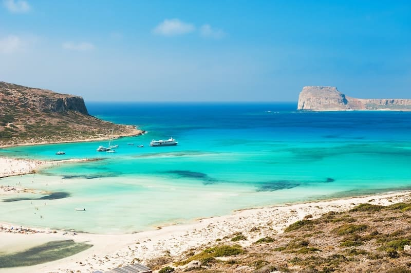 Balos lagoon with turquoise waters in Crete