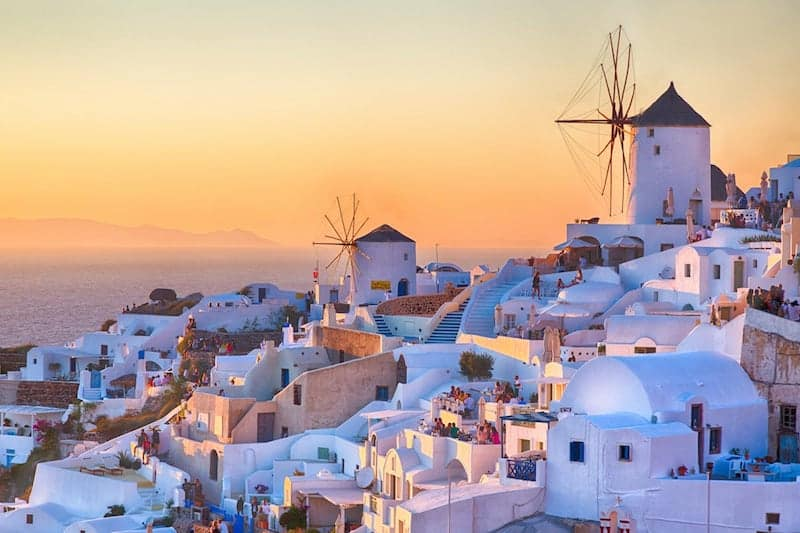 Sunset over Oia