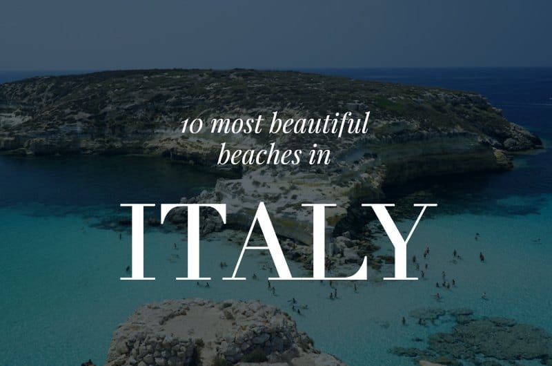 Rabbit Island with text overlay '10 Most Beautiful Beaches in Italy'