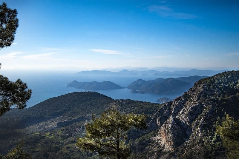 Epic coastal views along the coast of Turkey near Fethiye