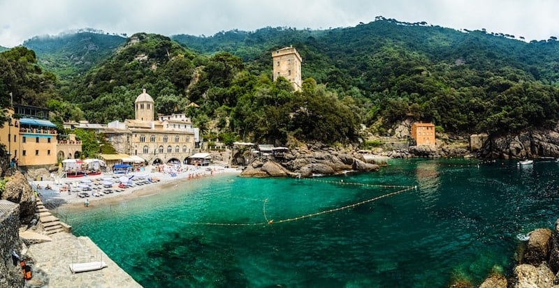 The picturesque beach of San Fruttuoso
