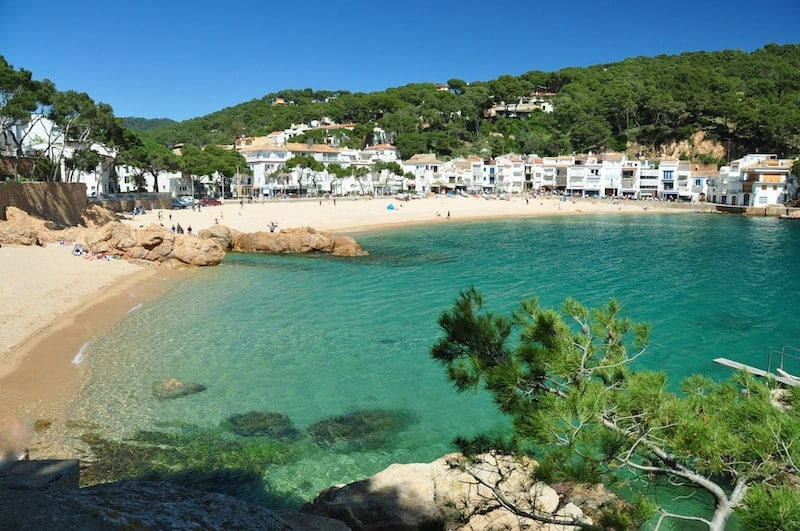 Tamariu Beach in the Spanish Costa Brava