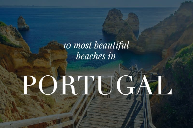 Camilo with text overlay '10 most beautiful beaches in Portugal'