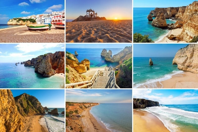 collage of the best beaches in Portugal