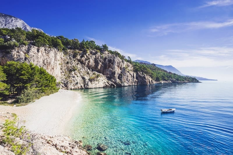 Remote Nugal beach in Croatia