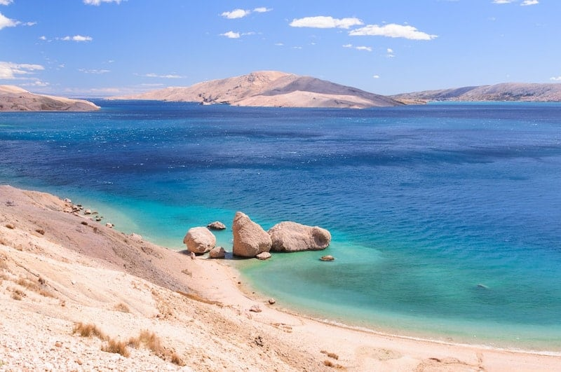 Boulders on Rucica Beach, Pag