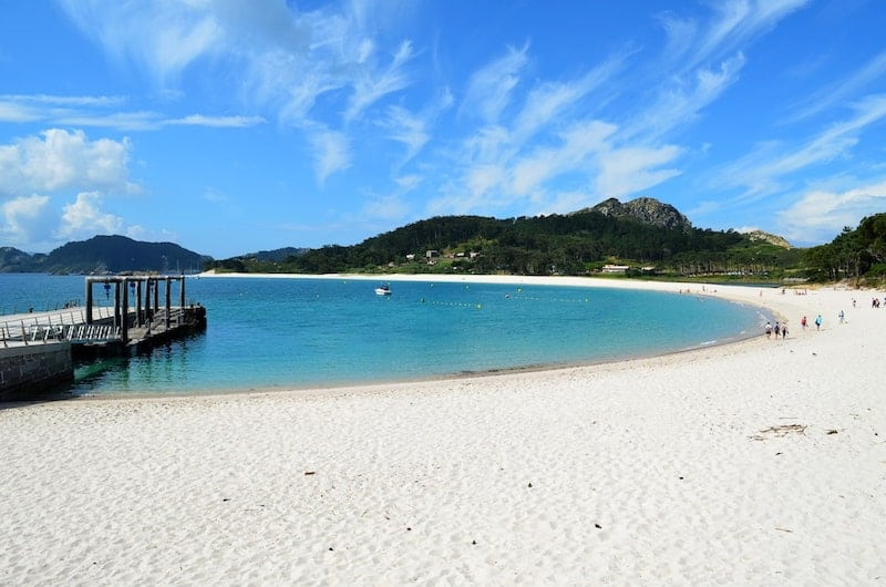 White sands of the Cies Islands