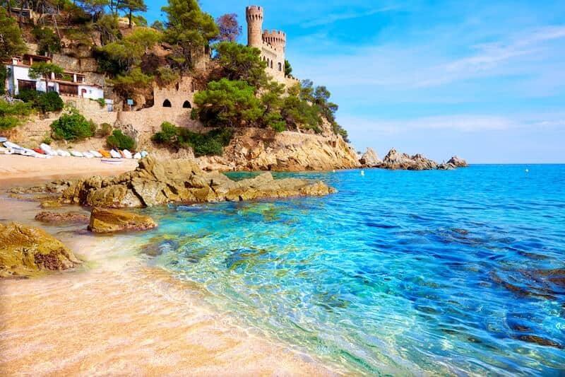Tossa de Mar beach and castle