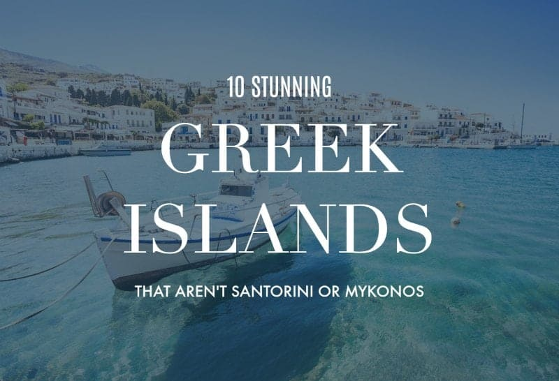 Andros with text overlay '10 Stunning Greek Islands that aren't Santorini or Mykonos'