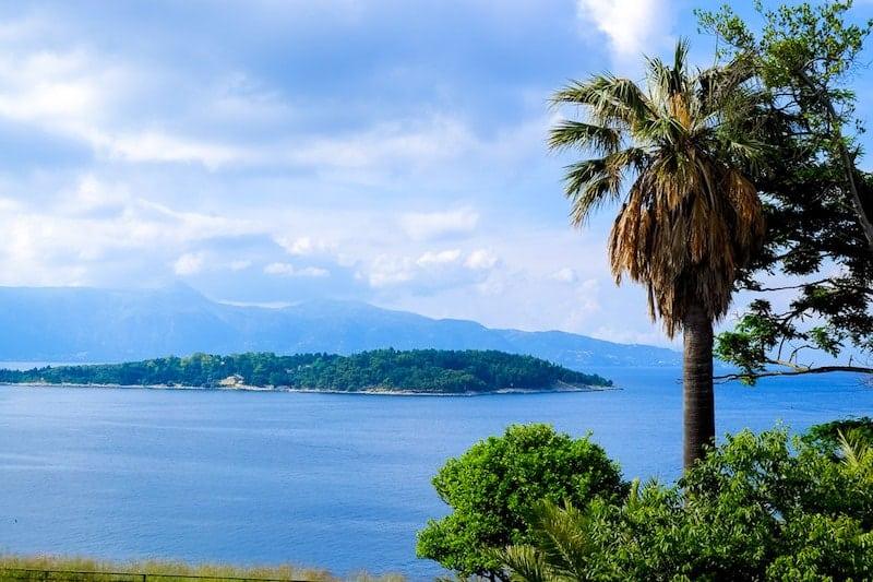 Vido Island from Corfu Town
