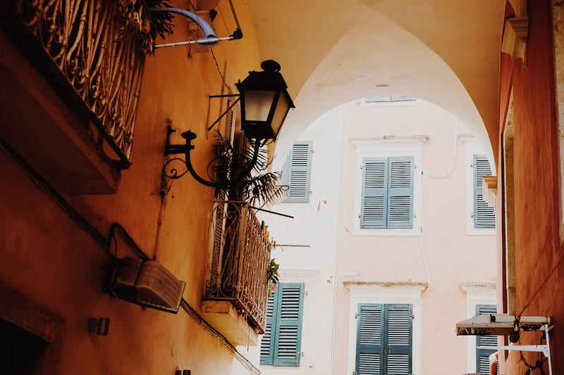 Exploring the Beautiful Streets of Corfu Old Town