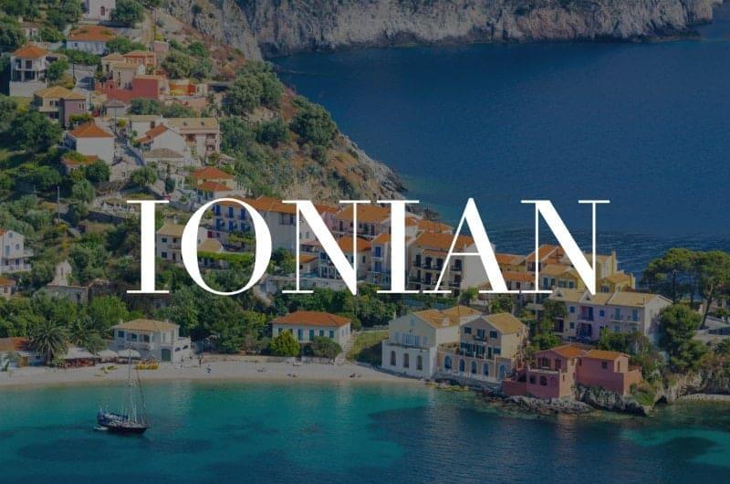 Ionian islands header