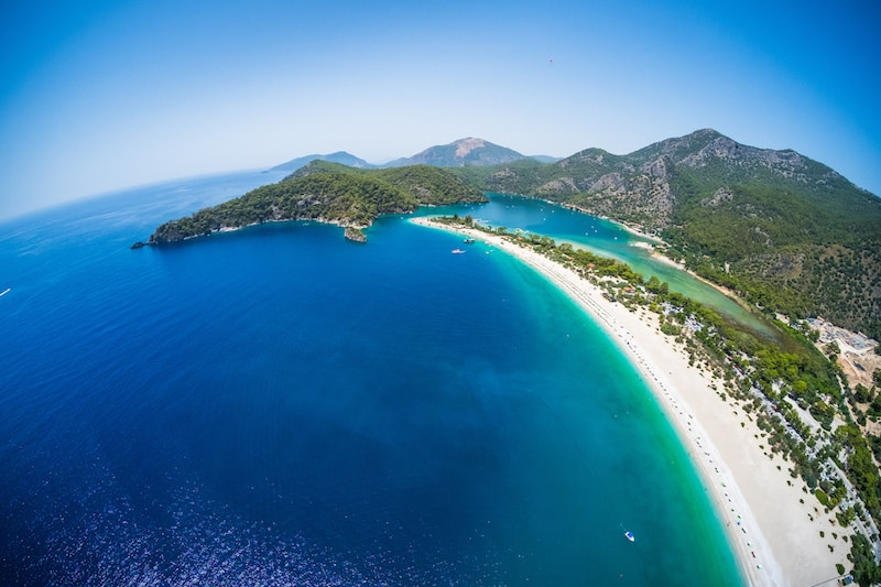 aerial view of Oludeniz beach