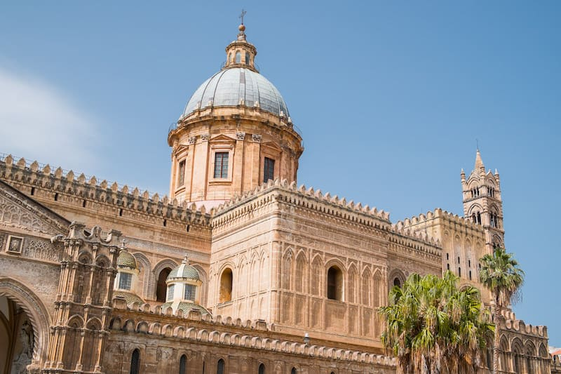 The exterior of Palermo cathedral.