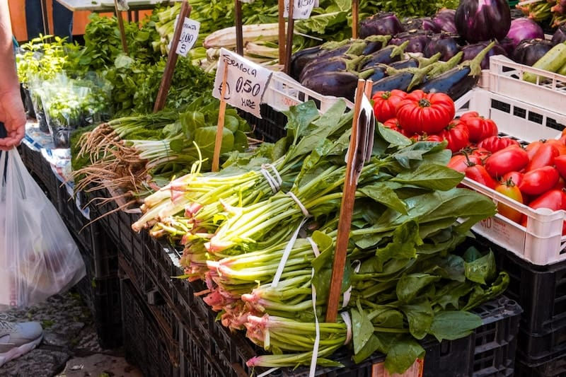 Piles of veg in Mercato del Capo