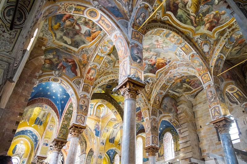 Interior of La Martorana church, Palermo