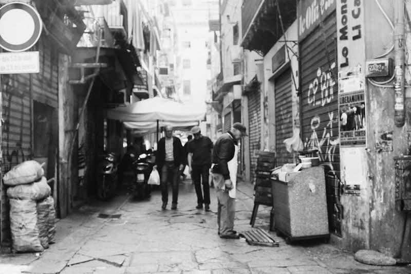 Street life near Vucciria market