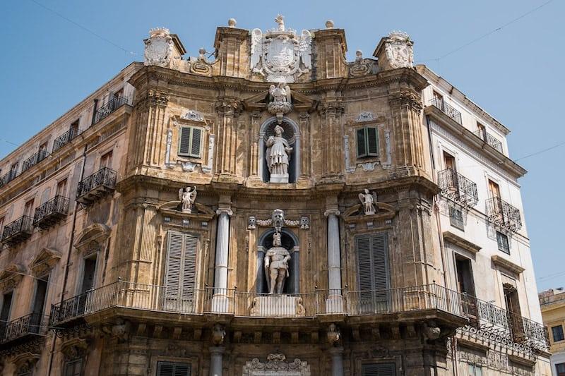 Quattro Canti ornate facade