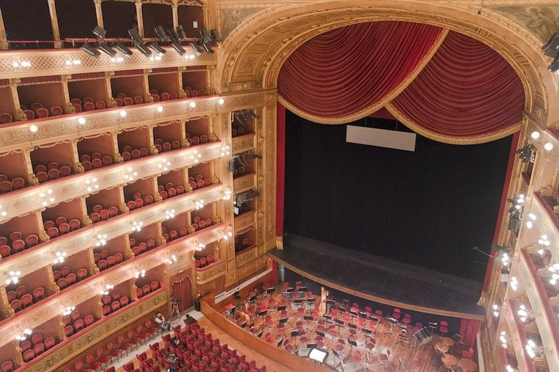 Interior of Palermo's Teatro Massimo opera house