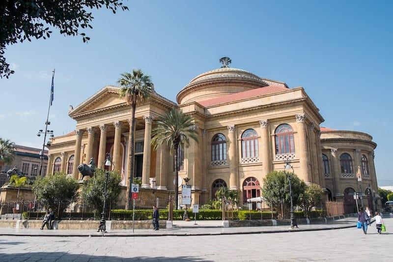 Exterior of Palermo's Teatro Massimo opera house